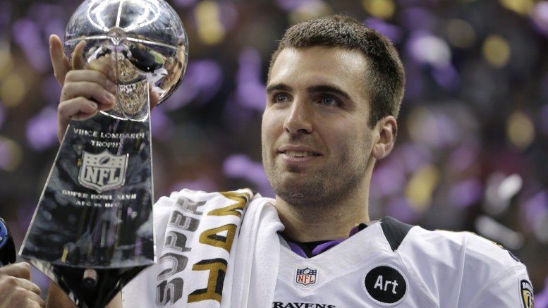 Joe Flacco and the Ravens started fast, lost momentum then regained steam en route to winning Super Bowl XLVII. (AP Photo Credit: Matt Slocum)