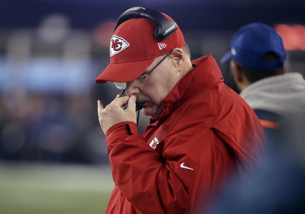 11 years after botching the final minutes of Super Bowl XXXIX, Andy Reid's clock mismanagement aided another Patriots playoff win.