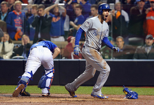 Eric Hosmer and the Royals benefitted from a Mets meltdown in Game 5.