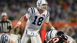 Peyton Manning's only Super Bowl title came with the Indianapolis Colts wearing their road white uniforms in Super Bowl XLI.