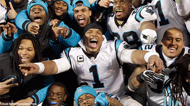 Cam Newton and the Panthers never flinched in their 49-15 rout of the Cardinals on Sunday.