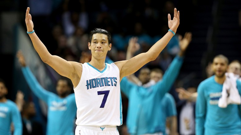 Jeremy Lin scored 29 points off the bench as the Charlotte Hornets shocked the San Antonio Spurs (Photo credit: Streeter Lecka/Getty Images)