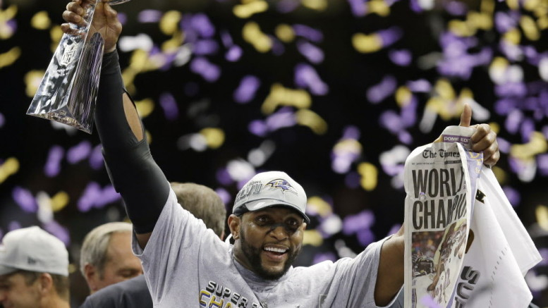 Ravens linebacker Ray Lewis is one of several NFL greats in recent memory to ride off into the sunset with a Super Bowl victory.