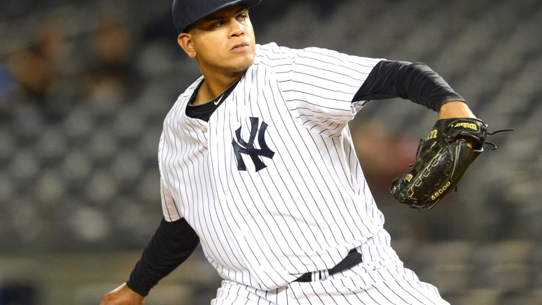Dellin Betances has 15 strikeouts in just six innings of work this year.