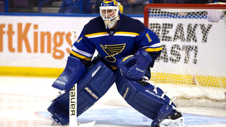 Brian Elliott has won two Game 7s for the St. Louis Blues thus far this postseason. (Photo credit: Jimmy Simmons/Icon Sportswire)