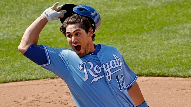 Brett Eibner's first career hit capped an incredible, seven-run ninth inning comeback by the never-say-die Royals.