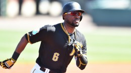 The Pirates' Starling Marte leads the NL in doubles (13) and stolen bases (nine).