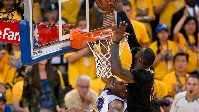 LeBron James' remarkable block helped propel the Cavaliers to their first NBA title.