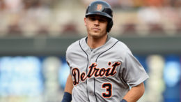 Ian Kinsler's Tigers stunned the Rays with an eight-run ninth inning.