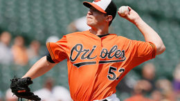 Orioles closer Zach Britton has been perfect in 27 save opportunities this year. (Photo credit: Rob Carr/Getty Images)