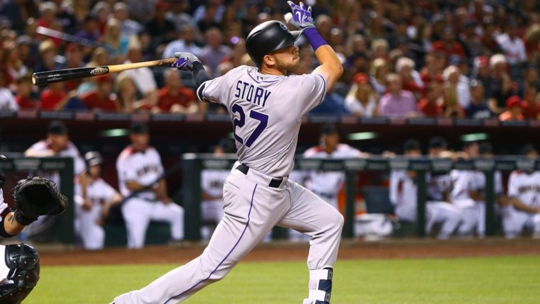 Trevor Story, who leads the National League with 27 home runs, is likely done for the season with a torn thumb ligament.