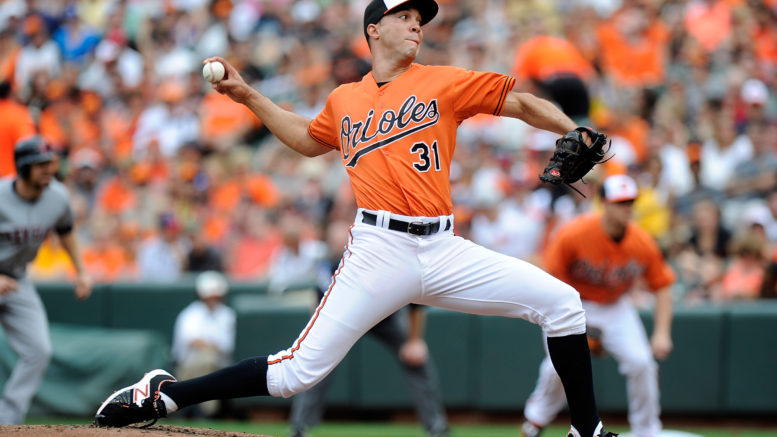 Ubaldo Jimenez's gem against Toronto last night has the Orioles in position to possibly host the AL wild card game. (Photo credit: Greg Fiume/Getty Images.)