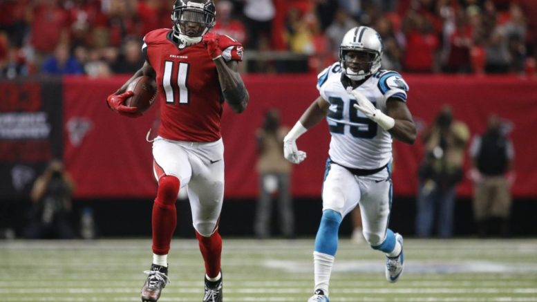 The Panthers hope to have better luck slowing down Julio Jones, who torched them for 300 yards in Week 4. (Photo Credit: Jason Getz/USA TODAY Sports.)