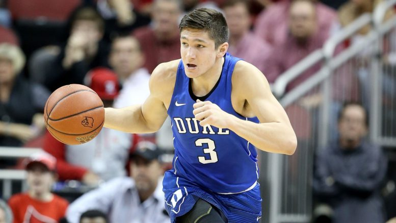 Grayson Allen, who is averaging 16.0 points per game in his junior year entering play Wednesday, could be a long shot to get drafted into the NBA this June.