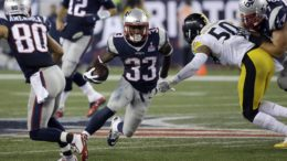 The Patriots are 16-0 with Dion Lewis in the starting lineup. (AP Photo/Stephan Savoia.)