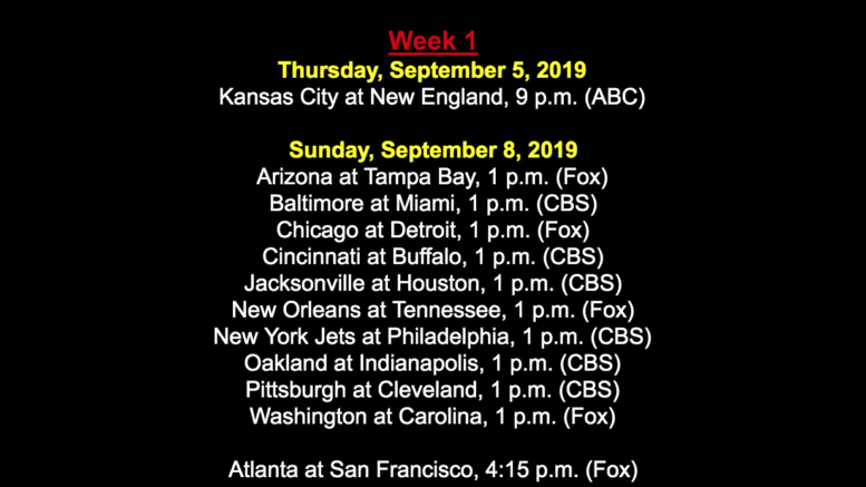 This is what the 2019 NFL schedule should look like (unfortunately it won't, though).